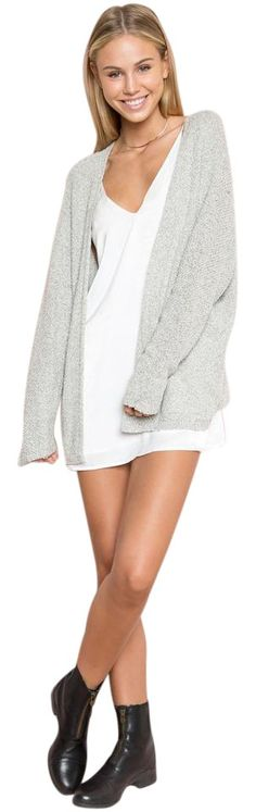 06279ebe23c8d Brandy Melville Gray Caroline Cardigan Size OS (one size) 63% off retail