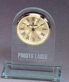 Jade Glass Clock