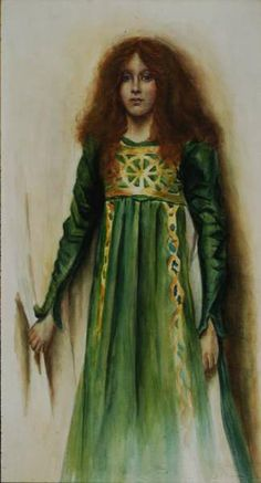 Thomas Cooper Gotch - Study for figure in Alleluia