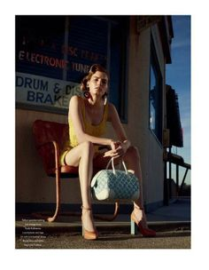 50s Roadtrip Editorials - The Marique Schimmel for Bon Shoot is Nostalgically Retro (GALLERY)