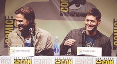 Jared and Jensen #ComicCon2013 #SupernaturalCast