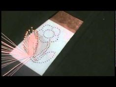 Nancy Today: Bobbin lace flower on pattern knipl namotaja čipke, ASMR