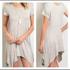 Pink tea shirt dress Super comfortable and flattering!  Fits true to size. Rayon spandex blend. Dresses Asymmetrical