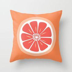 Split Grapefruit Throw Pillow Cover | dotandbo.com