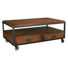 The Hammary Baja Rectangular Storage Coffee Table adds a warm, contemporary contemporary coffee tables Man Cave Coffee Table, Silver Coffee Table, Coffee Table Rectangle, Rustic Coffee Tables, Coffe Table, Coffee Table With Casters, Coffee Table With Storage, Table Storage, Acme Furniture