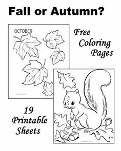 Fall coloring pages!