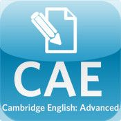 App name: CAE Use of English Practice Test. Price: $2.99. Category: . Updated:  Jun 03, 2012. Current Version:  1.0. Size: 0.90 MB. Language: . Seller: . Requirements: Compatible with iPhone, iPod touch, and iPad.Requires iOS 3.0 or later. Description: THE ONLY OFFICIAL PRACTICE TES  T app for the Cambridge Englis  h: Advanced (CAE) Use of Engli  sh paper – from the people w  ho write and set the exams. Ma  ke  .