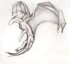 animal drawings sketches Simple Flying Dragon by ThousandWordsToSay Cool Dragon Drawings, Simple Dragon Drawing, Dragon Sketch, Easy Drawings, Tattoo Drawings, Pencil Drawings, Drawings Of Dragons, Simple Animal Drawings, Realistic Dragon Drawing