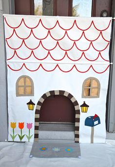 House in our Hallway - make different houses or castles with tension rods and fabric.