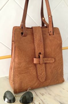 90's brown leather bag