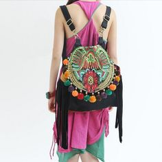 Boho Indian Zen Backpack
