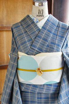 Kouř modré a moderní kontrola rozkošný podpora Awa al-stylu jediný kimono…