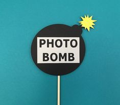 PhotoBomb Photo Booth Prop. #Photobomb #PhotobombProp #PhotoBombSign                                                                                                                                                                                 More
