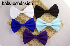 Solid Color Fabric Hair BowsPastel Fabric Hair by babyjoshdesign, $3.99