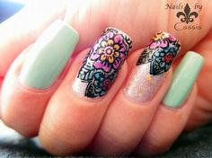 Nails by Cassis: The Neverending Pile Challenge 'Least Expensive' - Ulta3 Corsican Rose with flower stamping #nails #nailart #nailstamping