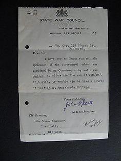 WW1 ANZAC SERVICEMAN Wm Gay 395 Church St Richmond