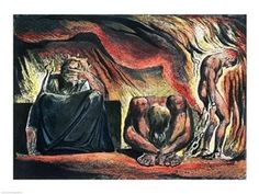 Jerusalem The Emanation of the Giant Albion Vala, Hyle and Skofeld, showing the crowned Vala Poster Print by William Blake (24 x 18)