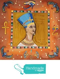 Regina Egiziana. Foulard pura seta crepe de chine dipinto a mano. https://www.amazon.it/dp/B06WLLXVCQ/ref=hnd_sw_r_pi_dp_NsdPybF05Q37Y #handmadeatamazon