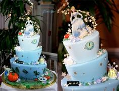 Dreaming of a cake fit for a princess? Look no further than this Cinderella-inspired dessert! With a little help from some lovable mice and the Fairy Godmother, this cake fits the bride and groom like. Disney Themed Cakes, Themed Wedding Cakes, Disney Cakes, Cinderella Birthday, Cinderella Wedding, Cinderella Theme, Cinderella Princess, Princess Cakes, Cinderella Disney