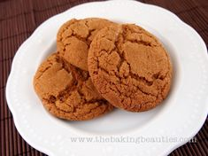 Soft Gluten-Free Ginger Cookies - The Baking Beauties (try iced to see if there are similar to mom's ginger creams)