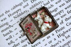 "Little Burrow Designs - ""Puppy Love"" Reworked Vintage items - Assemblage Art https://www.facebook.com/LittleBurrowDesigns"