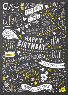 Are you looking for ideas for happy birthday?Navigate here for unique happy birthday inspiration.May the this special day bring you love. Birthday Wishes Greeting Cards, Happy Birthday Greetings, Birthday Messages, Happy Birthday Quotes, Happy Birthday Images, French Illustration, Happy B Day, Hand Lettering, Birthdays