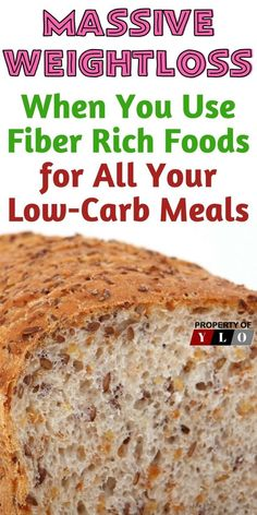 A high fiber diet program is essential to any weight loss or physical fitness programs you are participating in. Find the best high fiber low carb sources from this information. High Fiber Meal Plan, High Fiber Low Carb, Fiber Rich Foods, High Fiber Foods, High Fiber Recipes, High Fiber Bread Recipe, High Fiber Snacks, High Fiber Breakfast, Green Tea Diet