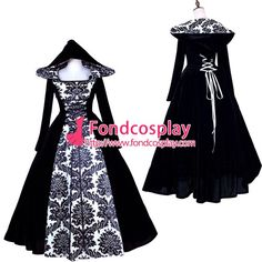 ping Victorian ROCOCO Gown Ball dress Gothic Velvet Costume Tailor-made[G1773] Alternative Measures