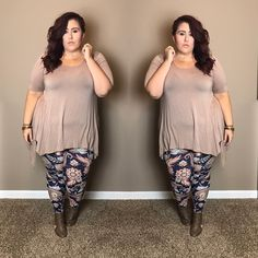 This Stylish plus size outfits for winter 2017 61 image is part from 130 Stylish Plus Size Outfits Ideas for Winter 2017 that You Must Try gallery and article, click read it bellow to see high resolutions quality image and another awesome image ideas. Plus Size Chic, Look Plus Size, Curvy Plus Size, Plus Size Legging Outfits, Plus Size Leggings, Plus Size Outfits, Plus Size Winter Outfits, Plus Size Fashion For Women, Plus Size Women