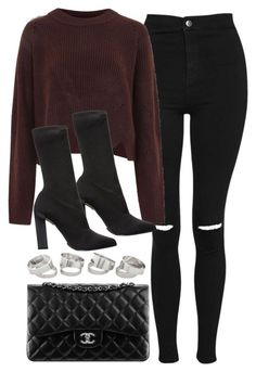 """""""Sin título #14196"""" by vany-alvarado ❤ liked on Polyvore featuring Topshop, Calvin Klein Collection and Chanel"""