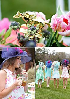 A Vibrant & Colorful Kentucky Derby Garden Party // Hostess with the Mostess®