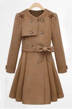 Skirt Hem wool coat