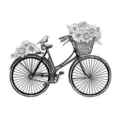 Crafty Individuals & Unmounted Rubber Stamp & Country Days & Bicycle Flowers The post Crafty Individuals & Unmounted Rubber Stamp & 417 & Country Days & Bicycle Flowers appeared first on Trendy. Bicycle Tattoo, Bicycle Art, Cycling Tattoo, Bicycle Basket, Women's Cycling, Cycling Jerseys, Bicycle Design, Paper Embroidery, Embroidery Patterns