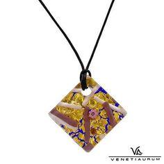 "VENETIAURUM Necklace 14k 925 Gold Plate 24K Multicolor Murano Glass 17 5"" LNGTH | eBay https://www.facebook.com/AColourfulPast"