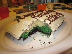 Matthew loved the colours hidden inside! Colours, Cakes, Desserts, Food, Tailgate Desserts, Scan Bran Cake, Kuchen, Dessert, Postres