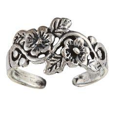 Sterling Flower Toe Ring