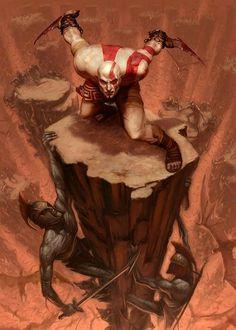 Kratos en el Hades-God of War Kratos God Of War, Character Concept, Concept Art, Greek Mythological Creatures, God Of War Series, Warrior Spirit, Video Game Art, Mythology, Greek Mythology