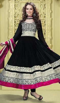 G3 fashions Black Georgette Party Wear Designer Salwar Suit  Product Code : G3-LSA104954 Price : INR RS 6182