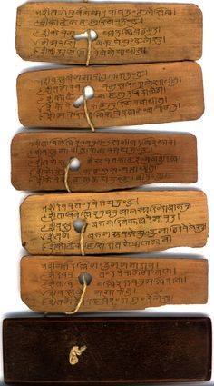 """Palm leaf manuscripts (Tamil: ஓலைச் சுவடி) are manuscripts  made out of dried palm leaves."