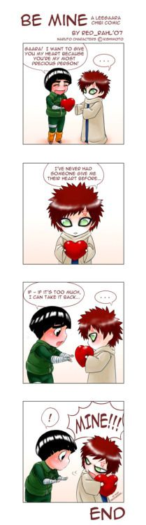 Naruto - Gaara x Rock Lee - GaaLee I used to ship this so much when I was in middle school XD