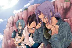 Mirai Trunks, Vegeta, Bulma y Trunks bebé Disney Marvel, Bulma Y Trunks, Dbz, Baby Trunks, Anime Manga, Anime Art, Otaku, Dragon Ball Z Shirt, Cute Anime Couples