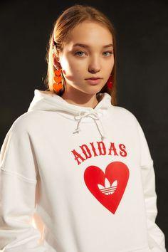 b1531655 adidas Heart Hoodie Sweatshirt | Urban Outfitters