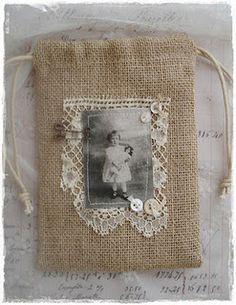 Sweet burlap gift bag