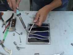 Just found this video on Pinterest! It's me, a while back now... making a leaded panel (very quickly!) for a film some artists friends were making. make : stained glass : milly frances