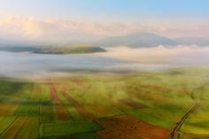 The great plain of Castelluccio at sunrise - A foggy sunrise during the flowering of Castelluccio. Lee GND 0,3 softgrad for the sky.