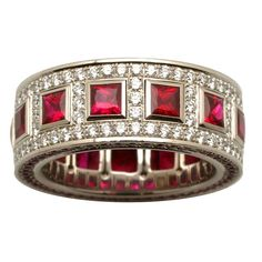 Brides: Alan Friedman. Majestic rubies can serve as both a tribute to Princess Diana (ruby was her birthstone) and a symbol of passion.