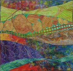 Underground Layers: Karen Kamenetzky Art Quilt