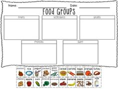 Food groups printable freebie!