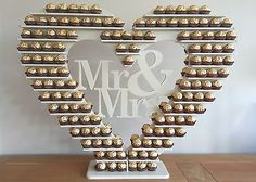 "Ferrero Rocher Heart Tree, ""Personalised"" holds 240+ DIY MDF Flatpack"