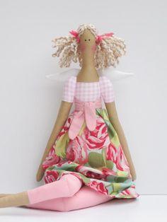 Fabric doll guardian angel cloth doll lovely by #HappyDollsByLesya